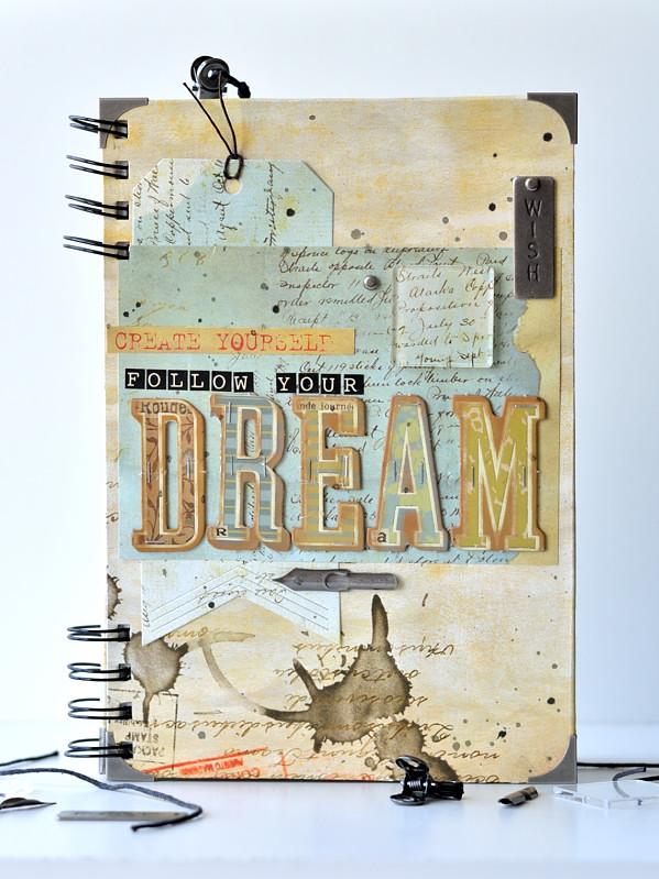DIY notebook Bo Bunny Et Cetera