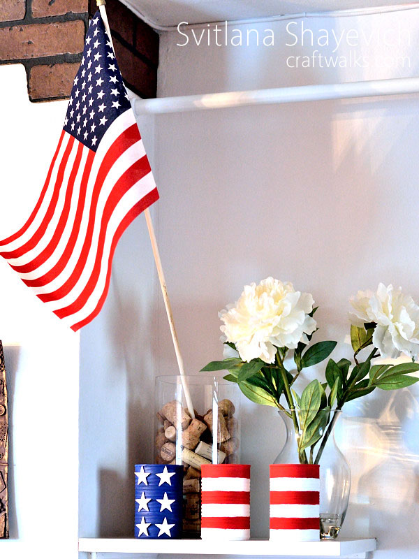 patriotic americana home decor  diy
