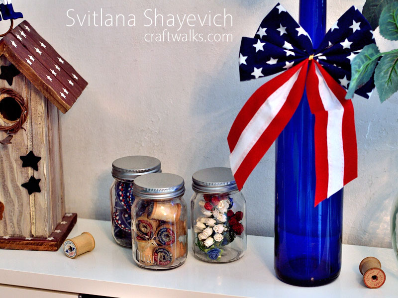 patriotic americana home decor mason jar