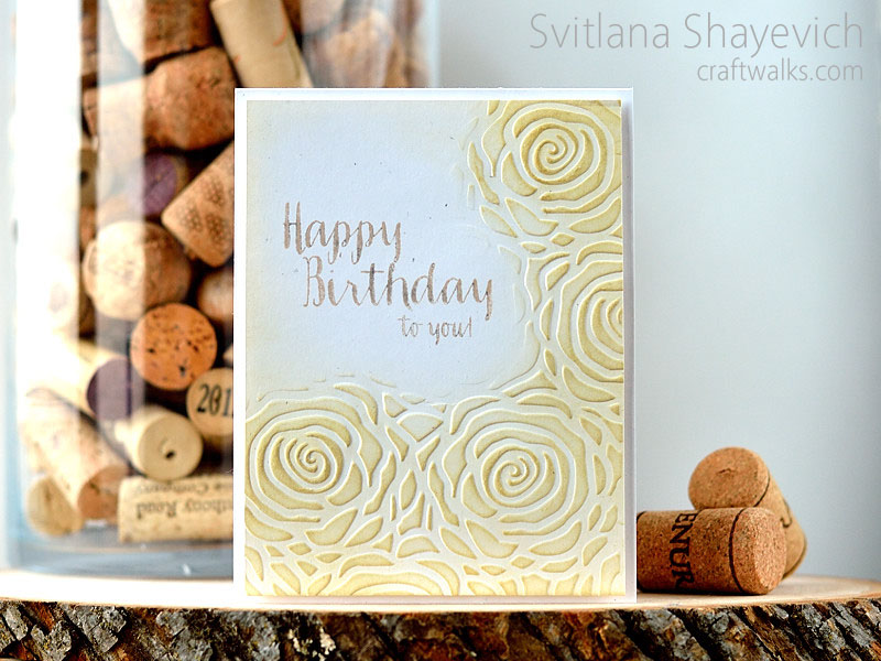 Partial embossing with folder @s_shayevich #card #cas #cleanandsimple #diy #handmade #embossing