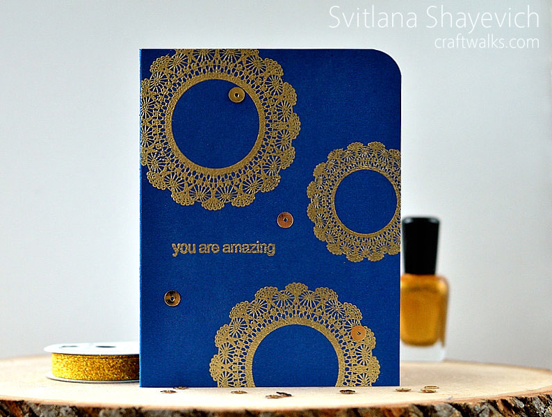 Card with gold embossing @s_shayevich #card #cas #gold #embossing