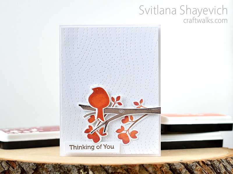Handmade card by @s_shayevich. Stamps - @wplus9, cover plate - #llilinkerdesigns #handmade #stamping #diy