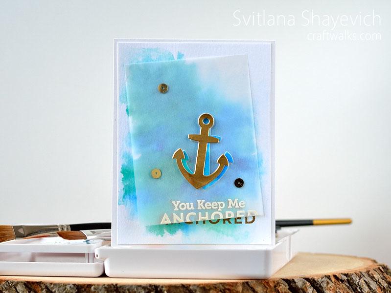 Handmade card by @s_shayevich. Supplies - mftstamps.. #handmade #diy #nautical #watercolor #mft #mftstamps