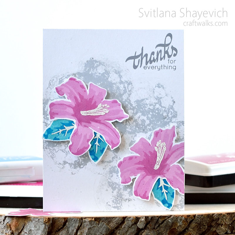 Layered Lily on moon background. Card by @s_shayevich. #card #cardmaking #handmade #diy #altenew @altenew