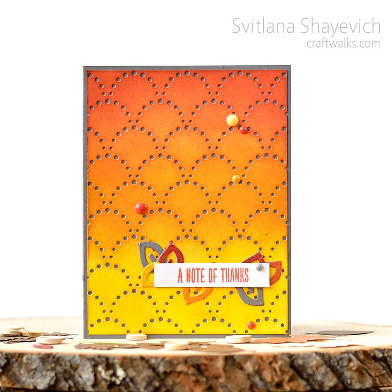 Card with gradient background by @s_shayevich. #card #cardmaking #handmade #diy #gradient