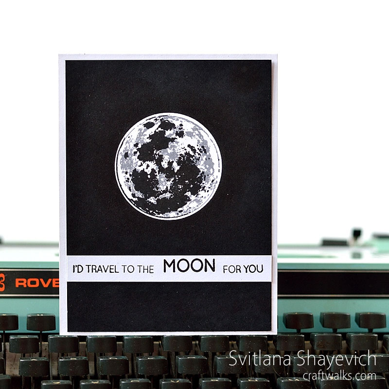 Moon card by @s_shayevich. Moon stamp - @altenew. #card #cardmaking #handmade #diy #watercolor
