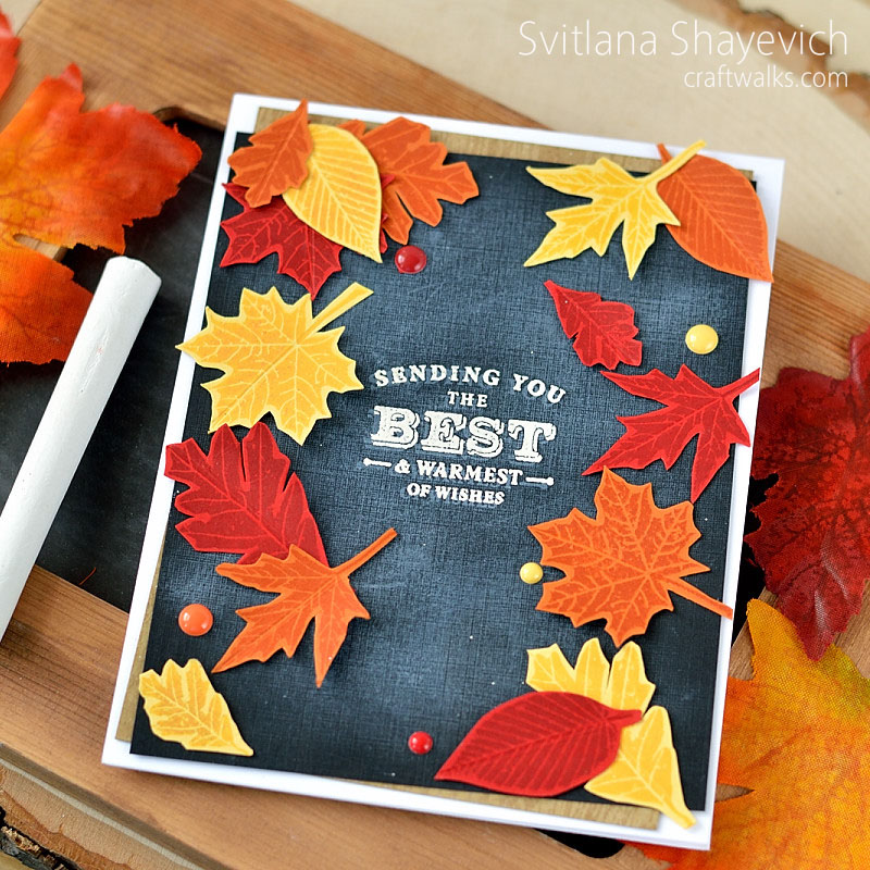 Autumn chalkboard by @s_shayevich. #card #cardmaking #diy #handmade #chalkboard. Stamps - @papertreyink