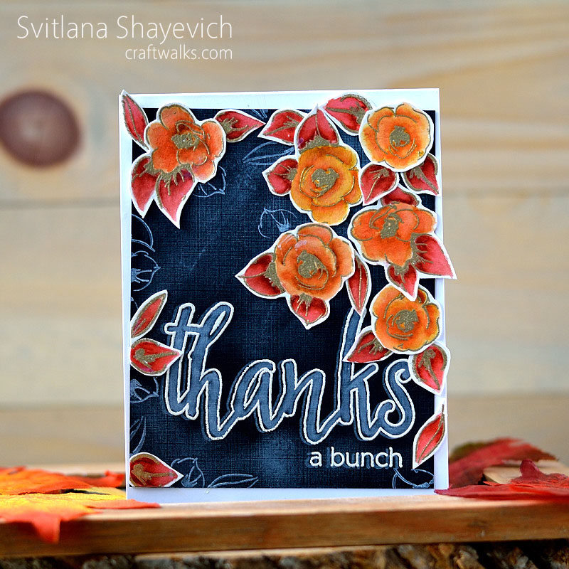 Chalkboard and autumn colors by @s_shayevich. Stamps - @altenew. #card #cardmaking #handmade #diy #chalkboard