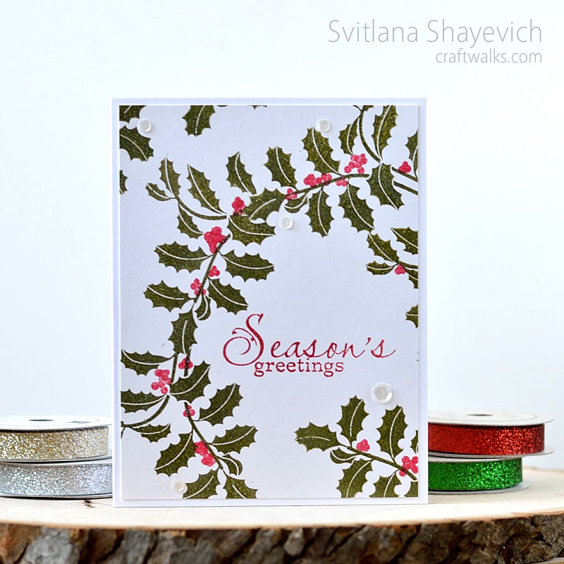 Holiday card with clean design by @s_shayevich. Stamps - @simonsaysstamp.