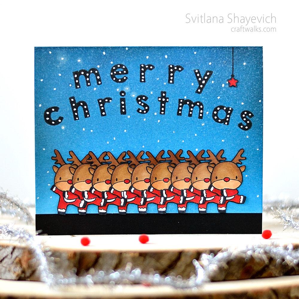 Deermas spectacular. Christmas card by @s_shayevich. Stamps - @mamaelephant. #card #handmade #diy #mamaelephant
