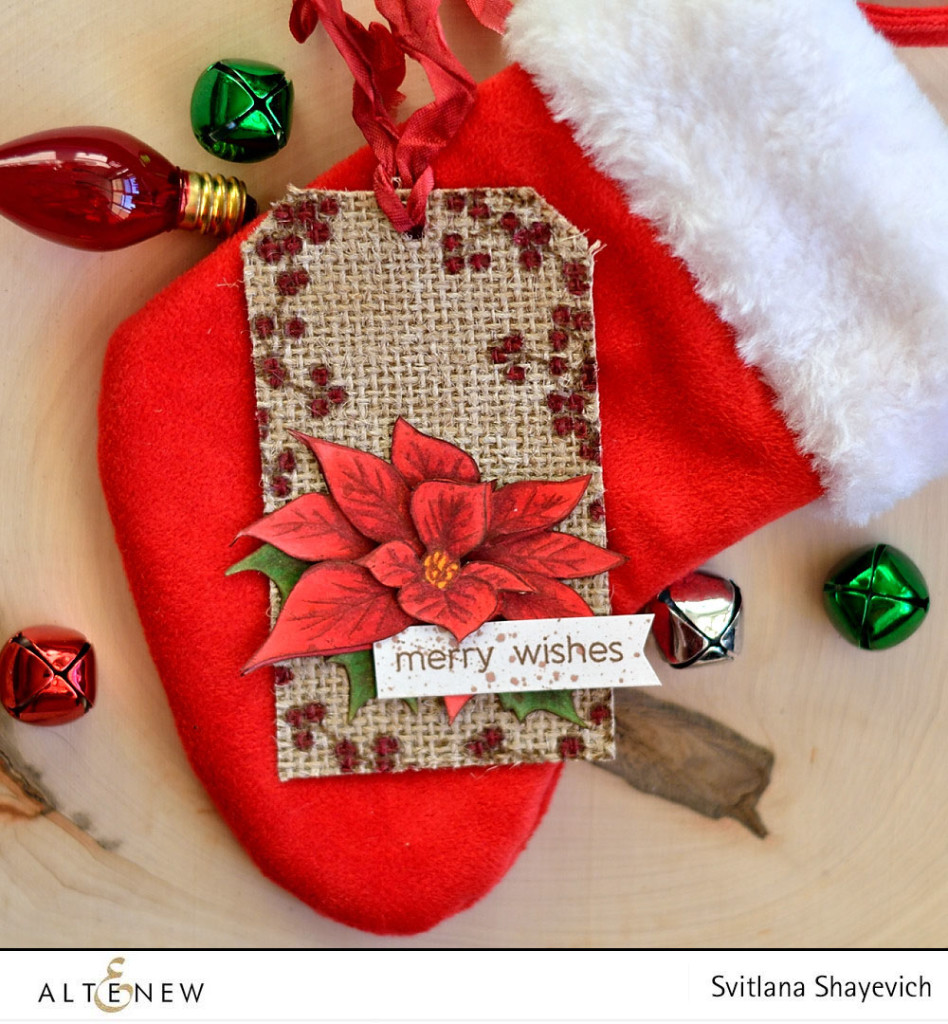 Christmas tag using @altenew stamps, by @s_shayevich. #card #cardmaking #diy #papercrafts #handmade #christmas