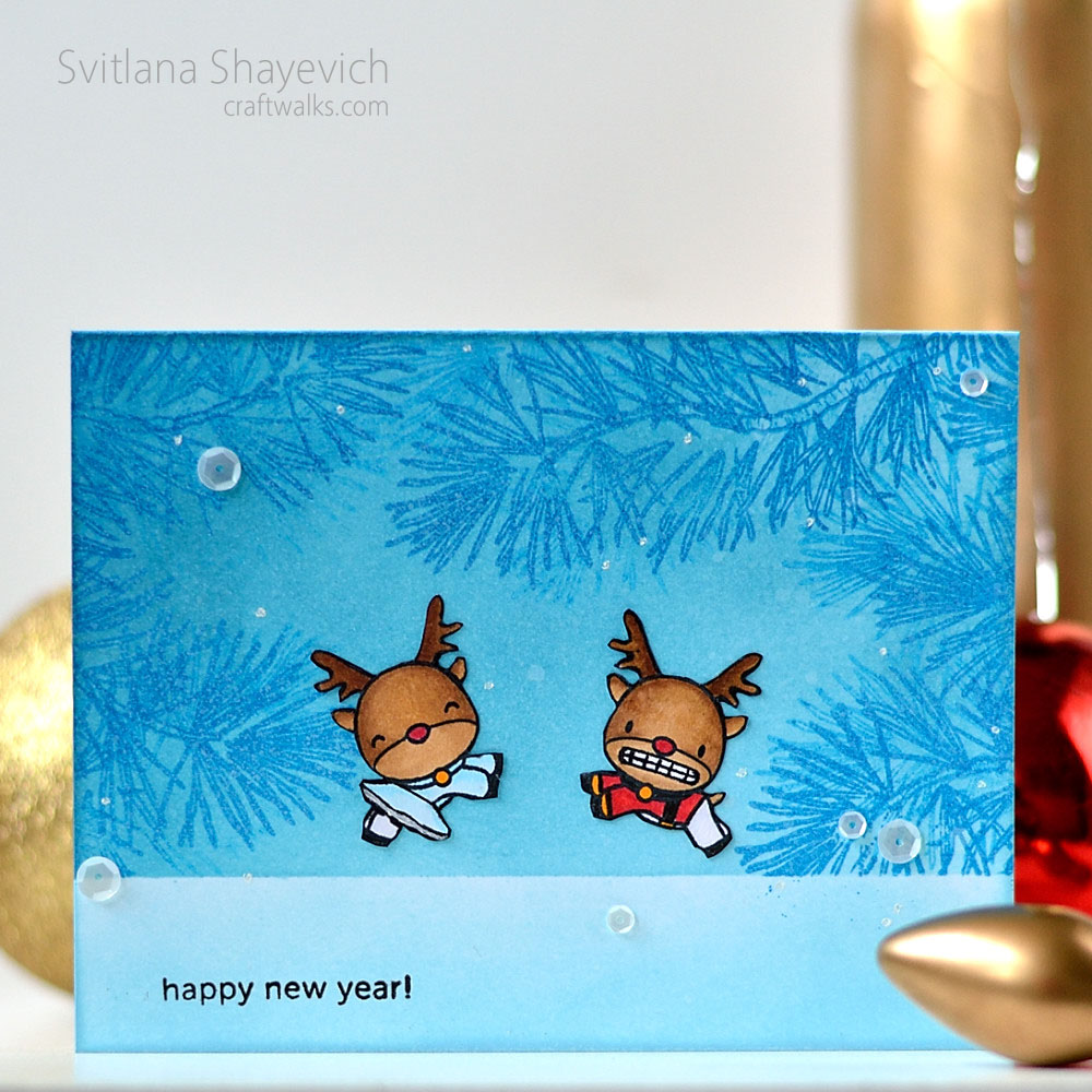 New Year card by @s_shayevich. Stamps: @mamaelephant