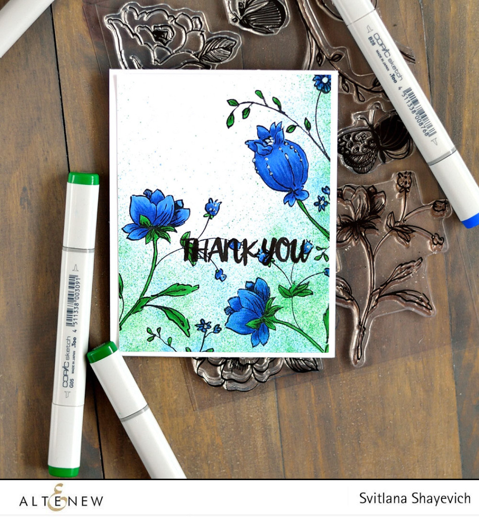 @Altenew January 2016 release, card by @s_shayevich. #card #handmade #papercrafts #diy #cardmaking
