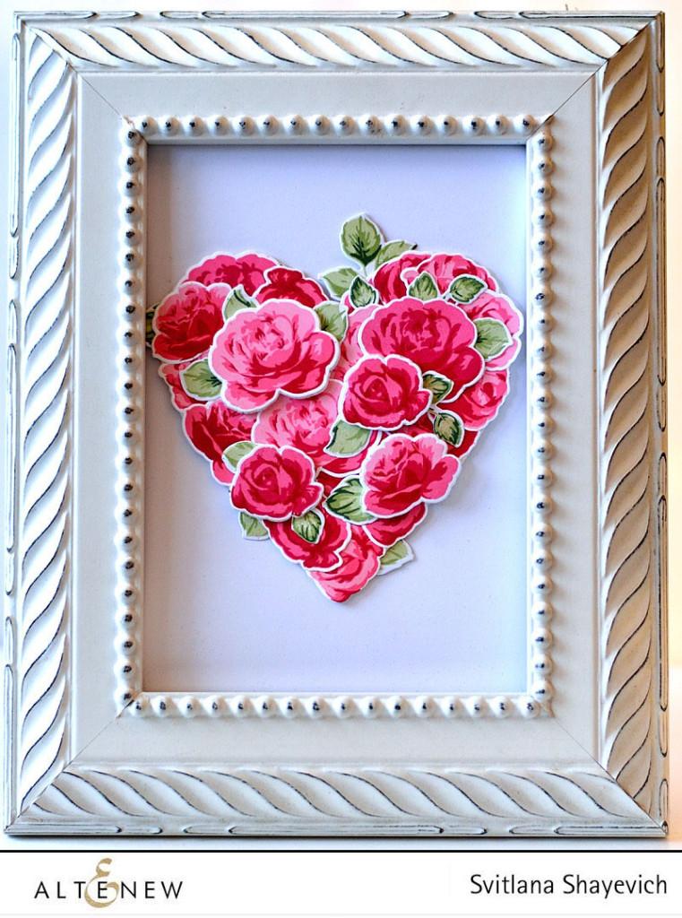 Valentine decor. @s_shayevich. Stamps - @altenew