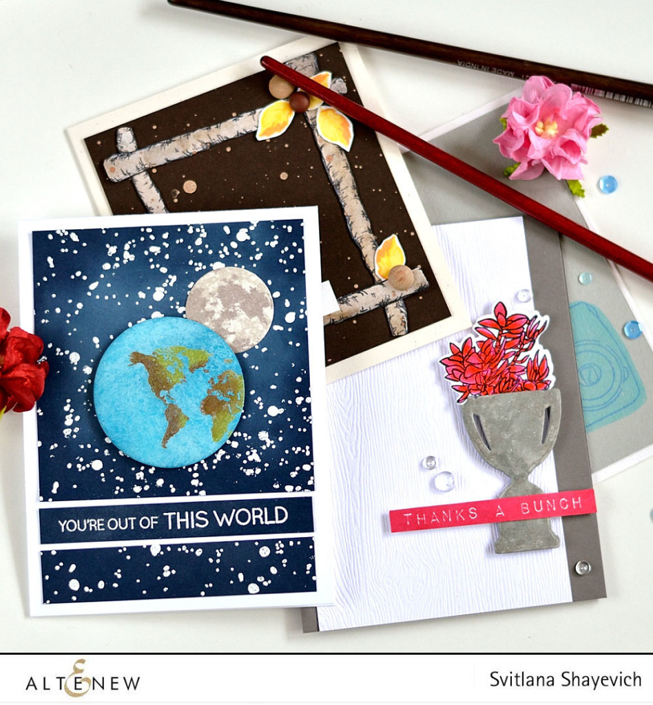 Altenew March 2016 release. By @s_shayevich. Stamps, inks and dies - @altenew. #card #cardmaking #diy #handmade #papercrafts #altenew