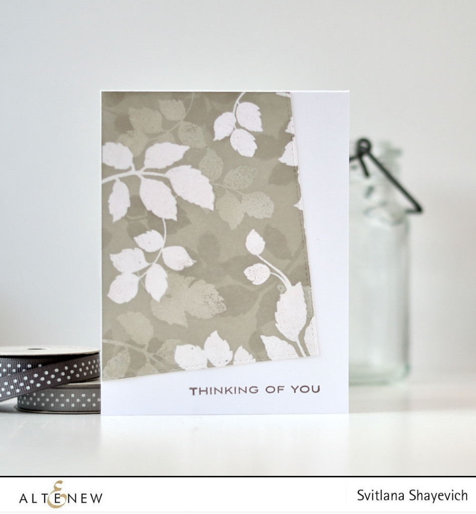 Layered Embossing Resist technique. Video tutorial. @s_shayevich. Supplies - @altenew. #card #cardmaking #diy #papercrafts #handmade #altenew