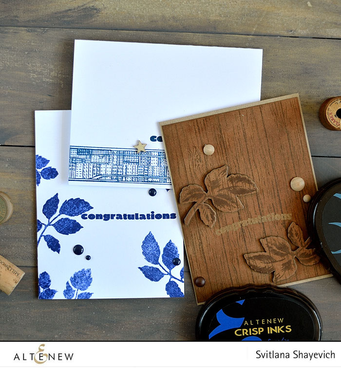 Three masculine cards made with Altenew stamps. @s_shayevich #card #cardmaking #diy #papercrafts #handmade #altenew