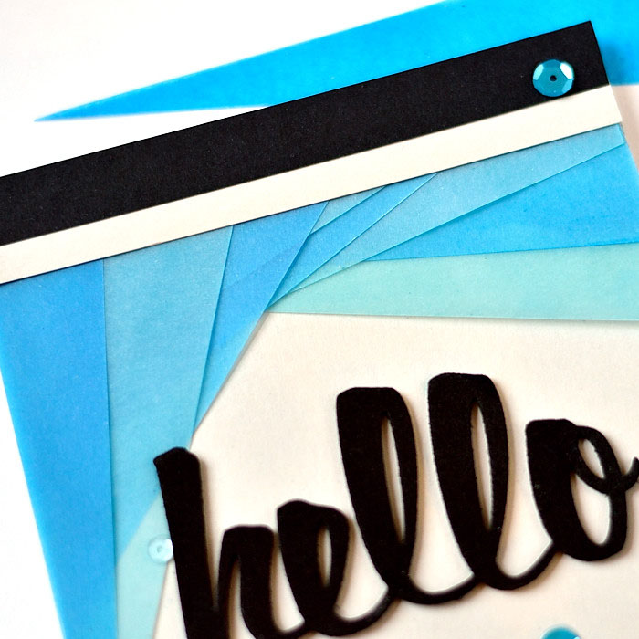 Colored vellum and foam die-cut. By @s_shayevich #card #cardmaking #diy #papercrafts #handmade