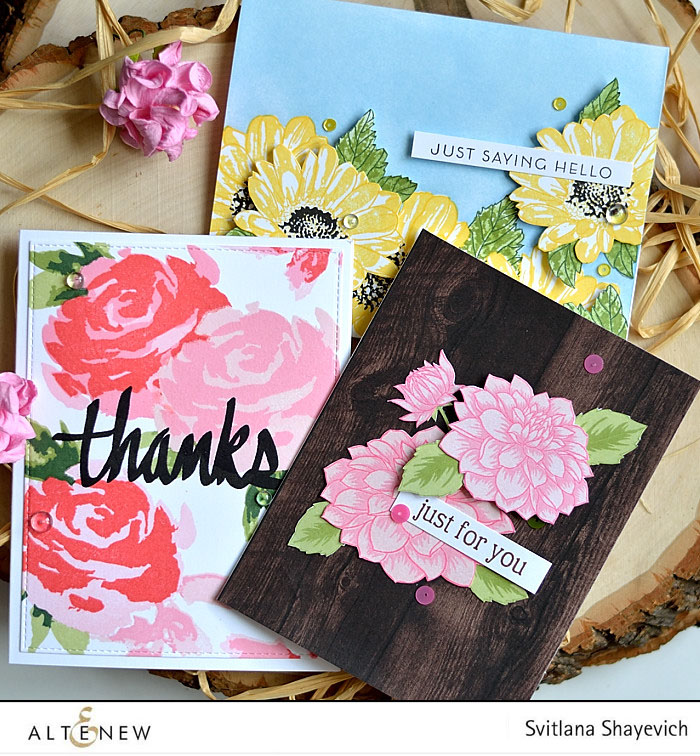 Altenew May 2016 release. Cards by @s_shayevich #card #cardmaking #diy #papercrafts #handmade #altenew