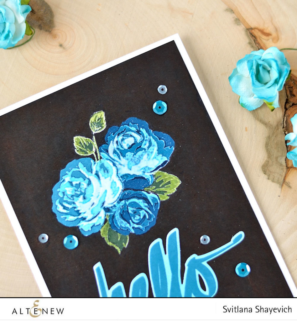 Create a look of negative photo on your card using Altenew Vintage Roses stampes set. Learn how to in this video tutorial. Card by @s_shayevich