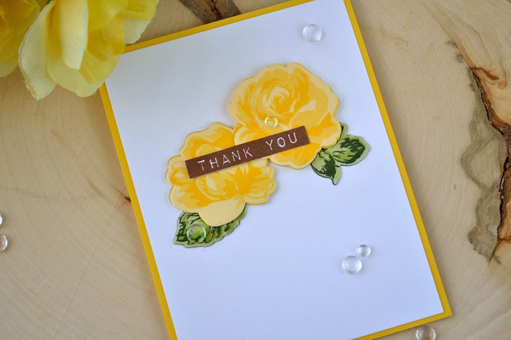 Video-tutorial of how to create a layered chipboard embellishment on a card. Vintage Flowers stamps set by Altenew. Card by @s_shayevich