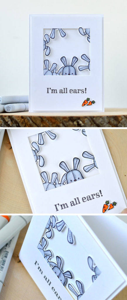 "It's never too many ears when these are bunny ears. ""I'm all ears!"" card by @s_shayevich."