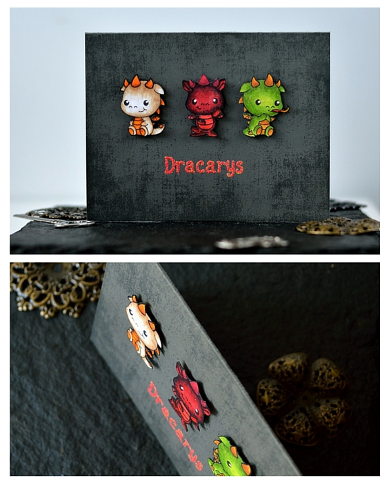 Game of Thrones inspired card. Dragons - Clearly Besotted. Card by @s_shayevich
