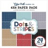 Echo Park Travel Dots and Stripes 6 X 6 Paper Pad