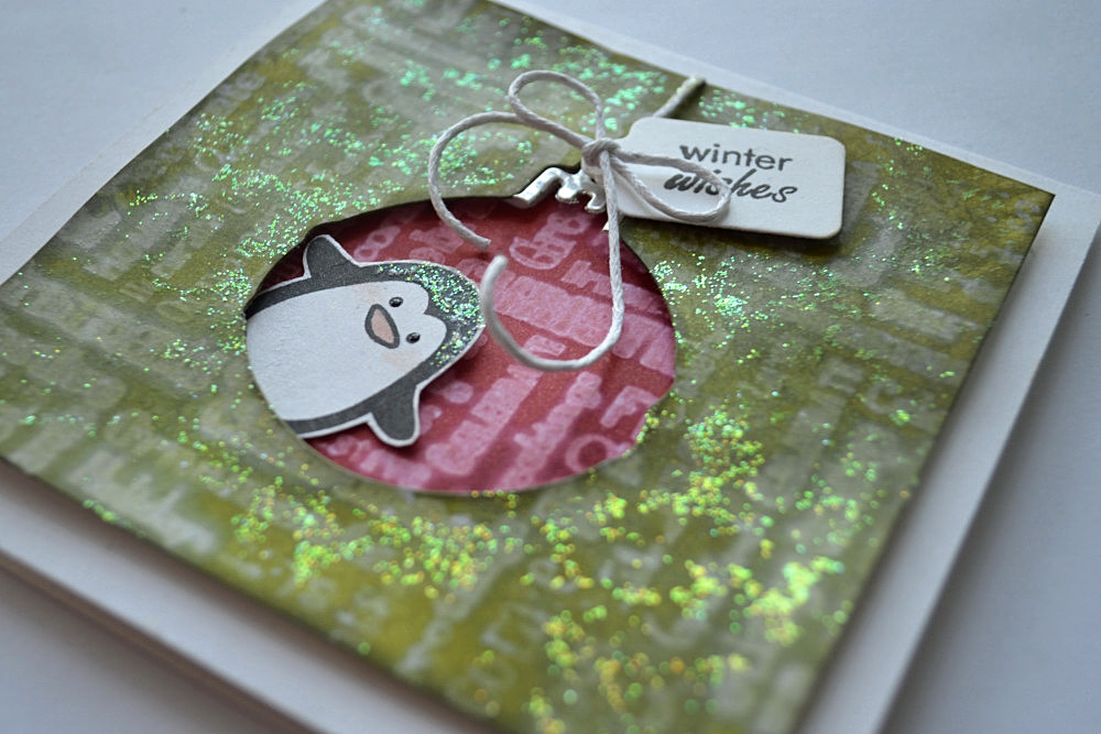 Stamping with water. Card by @s_shayevich