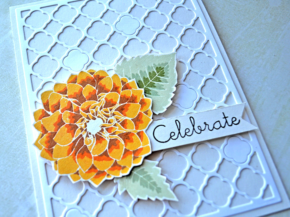 Delightful Dahlia. Card by @s_shayevich