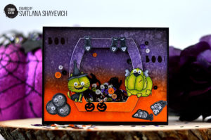 \Wicked Halloween Shaker card, dies and sequins from Studio Katia. Card by @s_shayevich\