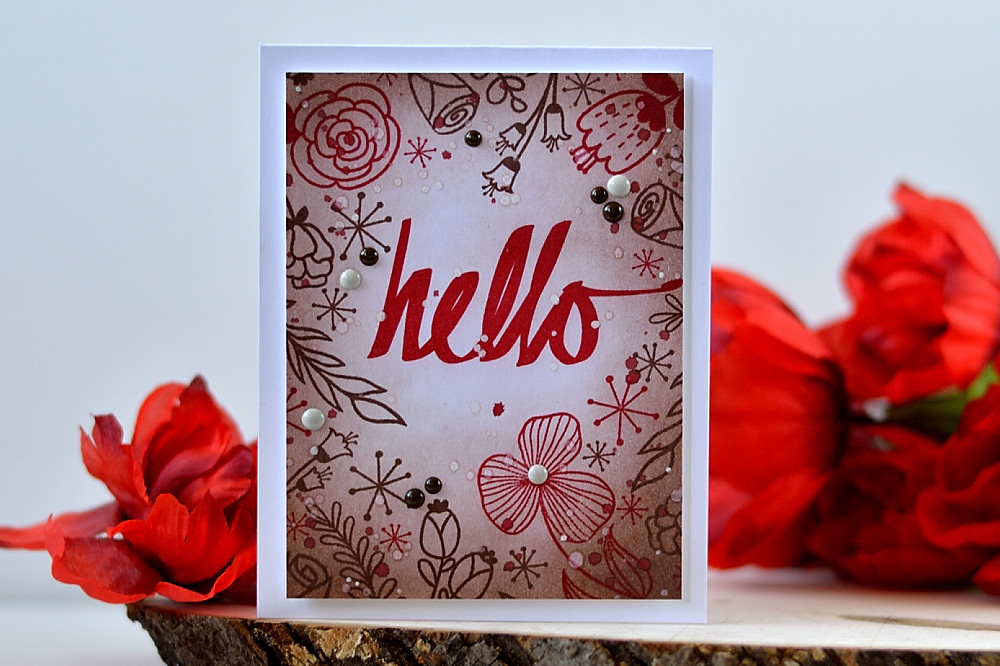 Altenew Hello Sunshine stamp set is perfect for creating card backgrounds. Card by @s_shayevich