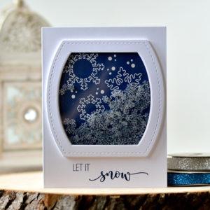 Studio Katia • Snowflakes Shaker Card