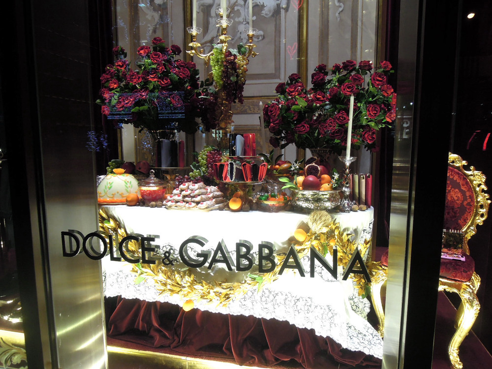 City Walks, Christmas in New York 2016. part 5. Dolce & Gabbana Holiday Windows