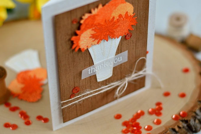 Double embossing and DIY woodgrain background. Altenew Life Is Beautiful. Card by @s_shayevich