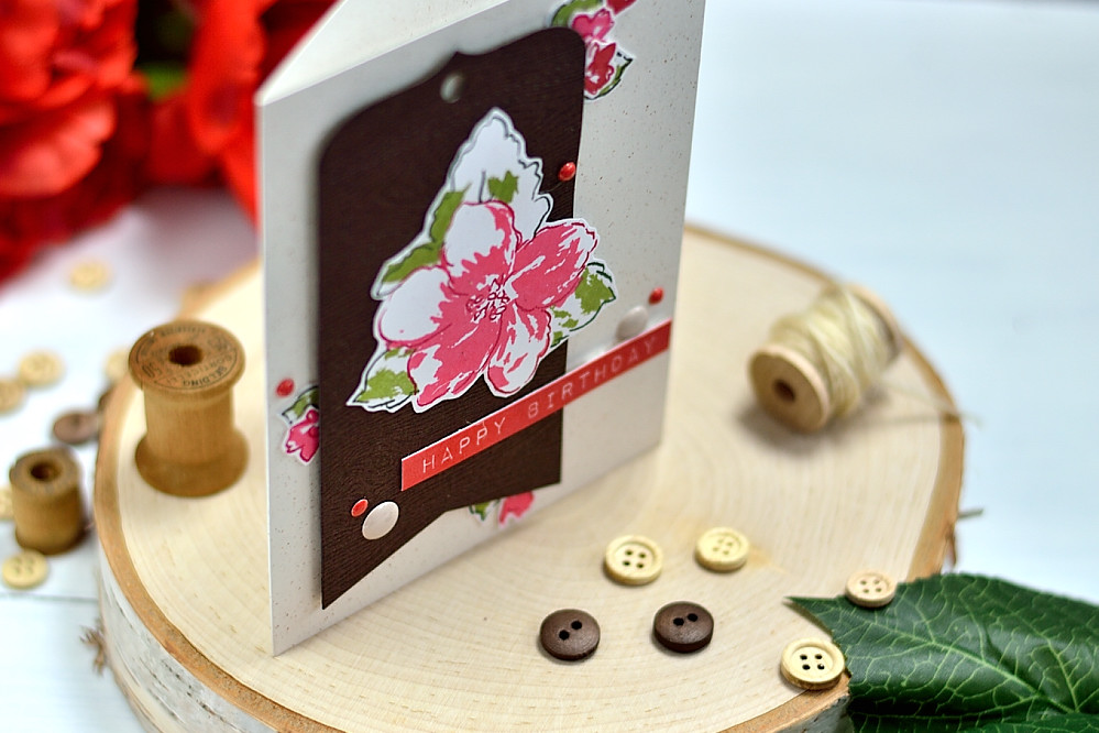 Tag In Bloom using Altenew Hibiscus Bouquet . Card by @s_shayevich