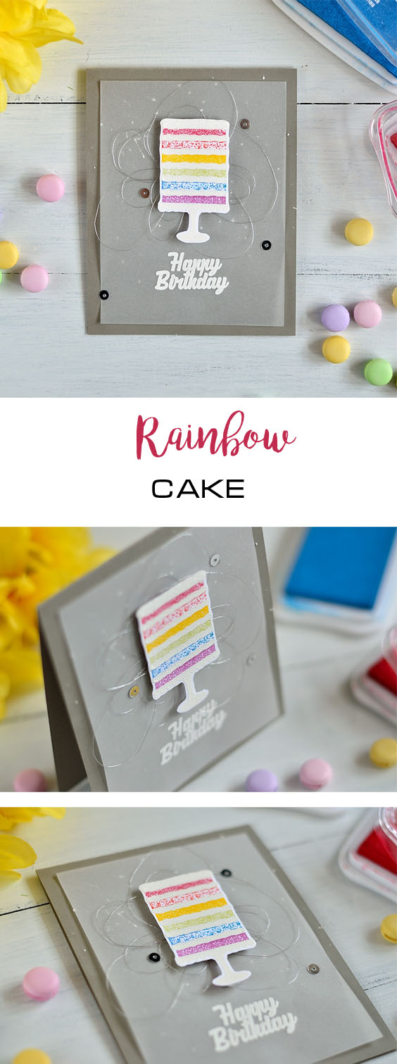 Rainbow cake. Card by @s_shayevich