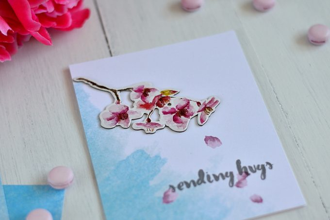 Simple card made with Altenew Reflection Collection. By @s_shayevich