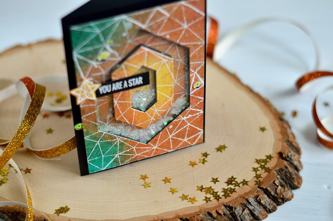 Geometric Galaxy Shaker. Card by @s_shayevich