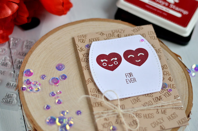 Studio Katia Valentine Hearts. Card by @s_shayevich