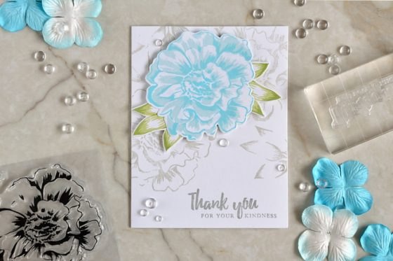 Altenew Build-A-Flower Camellia stamp set. Card by @s_shayevich