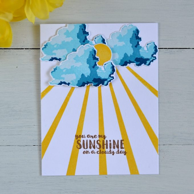 Altenew Rain or Shine. Card by @s_shayevich