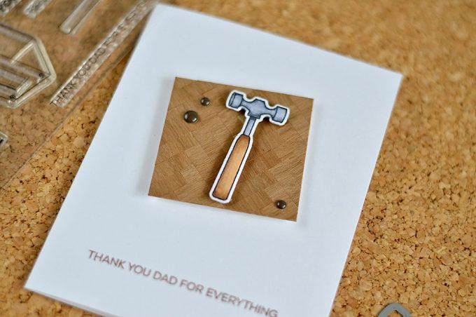 Parquuet floor - Father's Day Card idea with Altenew Best Dad stamp set. Card by @craftwalks