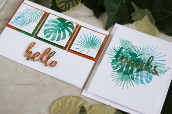 Faux Watercolor With Distress Inks. Cards by @craftwalks