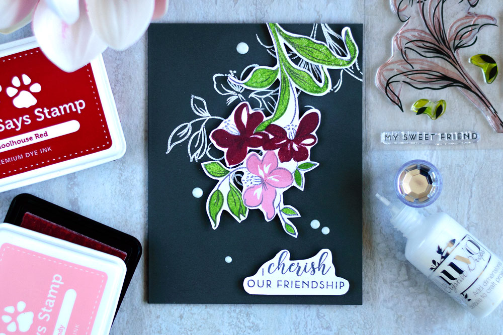 STAMPtember Exclusive By Altenew - Fabulous You. Card by @craftwalks