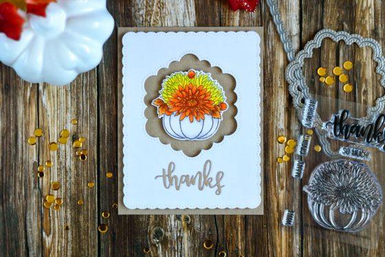 Studio Katia. Giving Thanks. Card by @craftwalks
