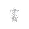 Altenew Halftone Stars Nesting Die
