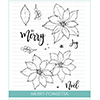 Studio Katia Merry Poinsettia Clear Stamp Set