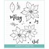 Studio Katia Merry Poinsettia Clear Stamp Set