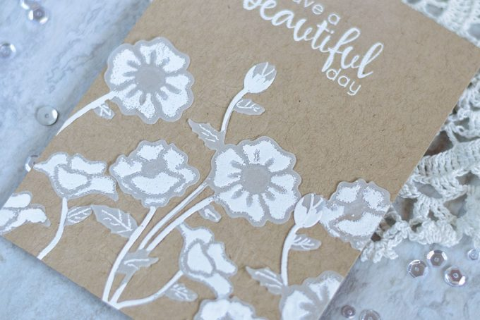 Kraft, vellum and white embossing will never let you down. Card by @craftwalks